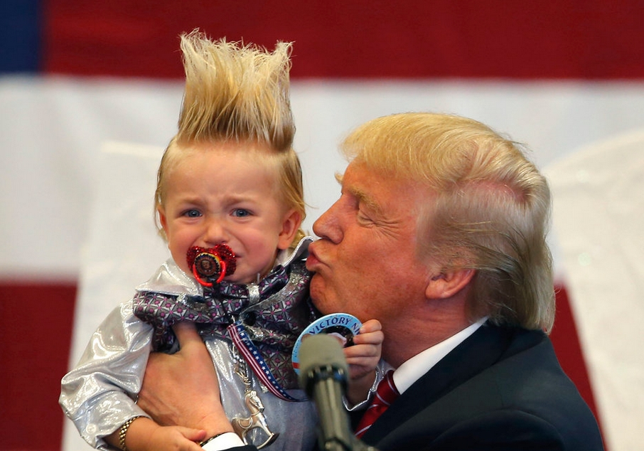 Trump scares the hell out of a toddler.